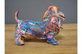 Small paint dog decoration