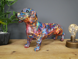 Large Resin painted Sausage Dog