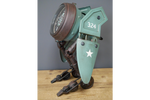 Green Winged Blue Robot Clock