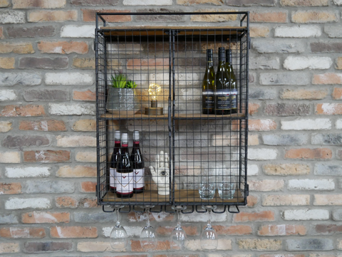 Industrial Wine Wall Unit