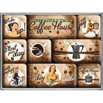 Coffee House Magnet Set