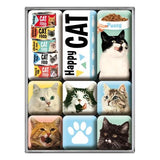 Happy Cat Magnet Set