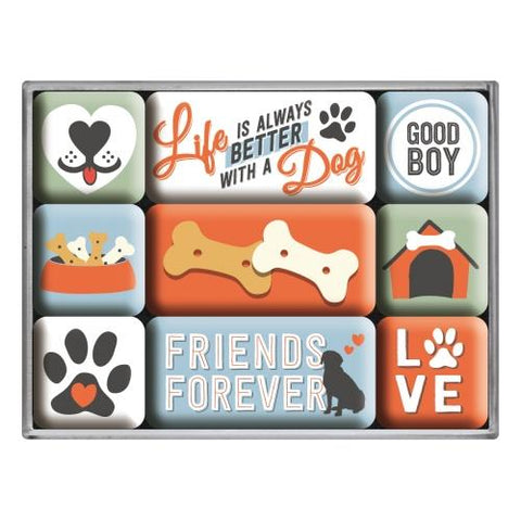 Life Is Always Better With A Dog Magnet Set