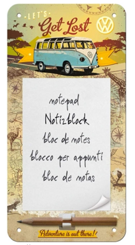 Let's Get Lost VW Volkswagen Notepad