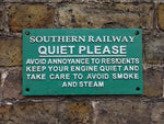 Southern Railway Quiet Please Cast Iron sign