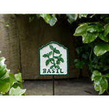 Basil Cast Iron Garden Herb Sign