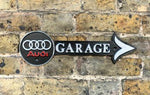 Audi Garage Cast Iron Arrow sign