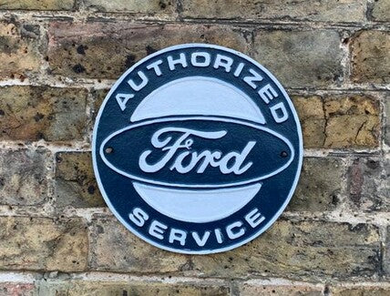 FORD AUTHORISED SERVICE PLAQUE Cast Iron sign