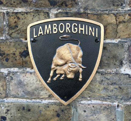 Lamborghini Cast Iron sign
