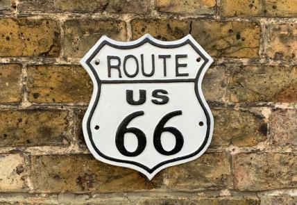 Route 66 Cast Iron sign