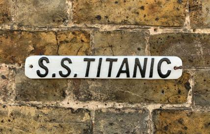 S.S.TITANIC PLAQUE Cast Iron Sign