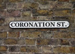 CORONATION STREET Cast Iron sign