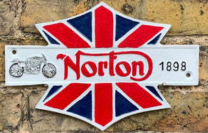 Norton 1898 Cast Iron sign