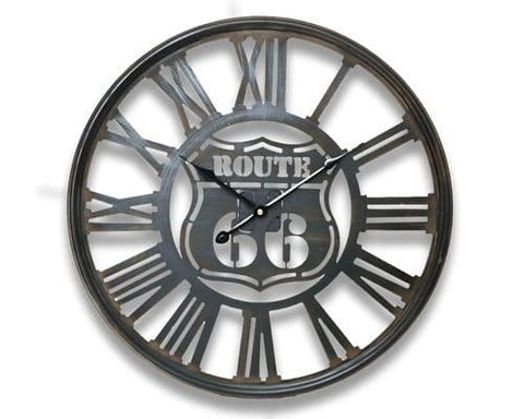 50cm Industrial Metal Route 66 Clock