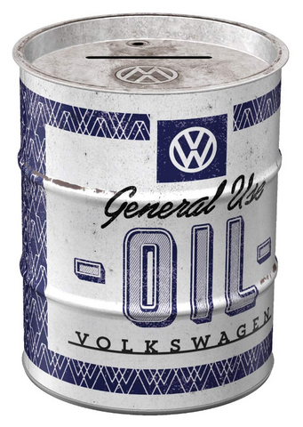 VW Volkswagen Barrel Style Money Tin