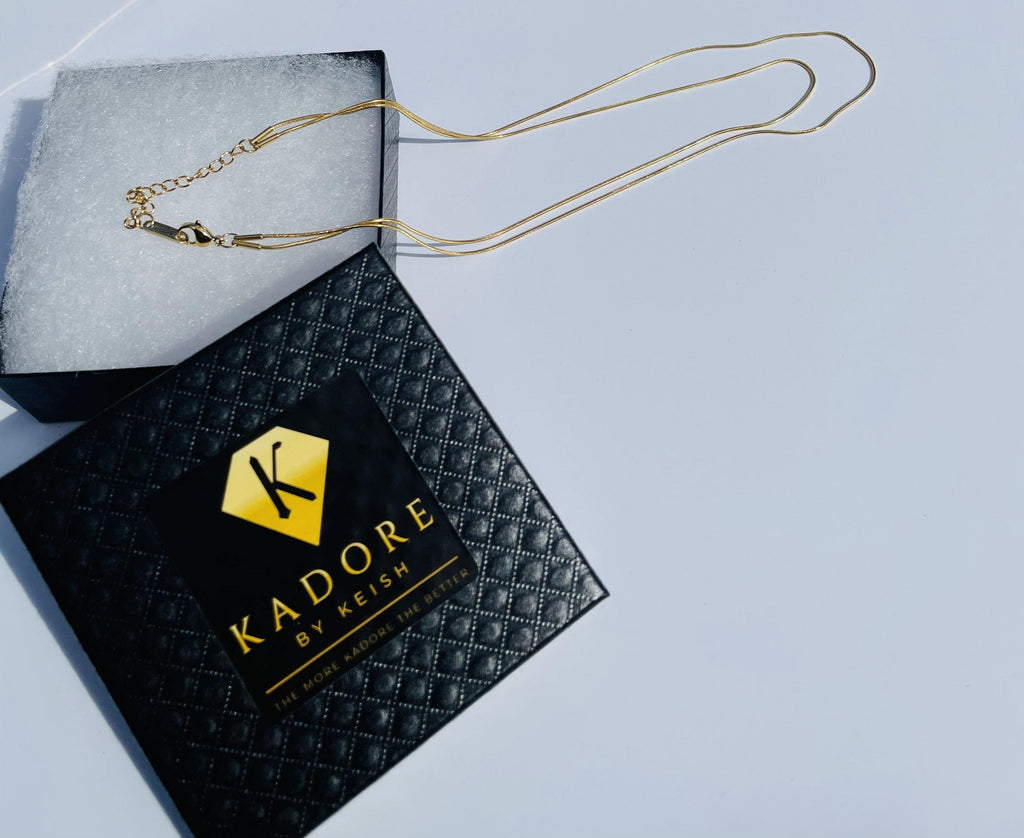 Double Layer Snake Chain Necklace - Kadore by Keish