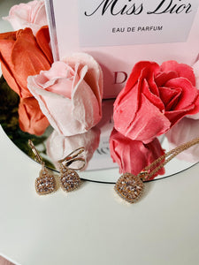 Pink Morganite Kisses-Earrings
