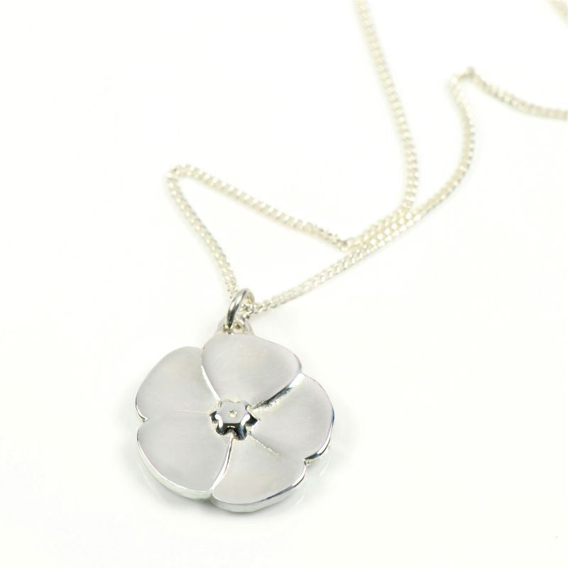 Sterling Silver Buttercup Charm On Silver Chain
