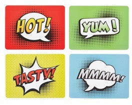 Pop Art Comic Strip Placemats Set of 4