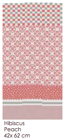 Tea Towel Penta Hibiscus Peach