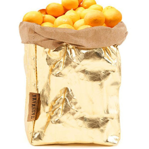 Uashmama Large Metallic Paper Bag