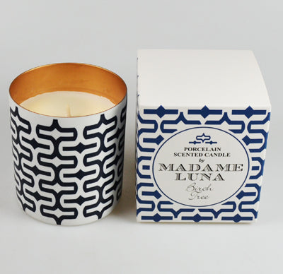 Madame Luna Birch Tree Porcelain Candle
