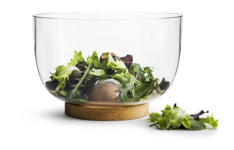 Oval Oak Salad Bowl