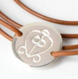 African Symbol Leather Wrap Power of Love Bracelet