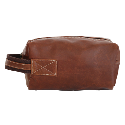 Peppertree Men's Leather Toiletry Bag