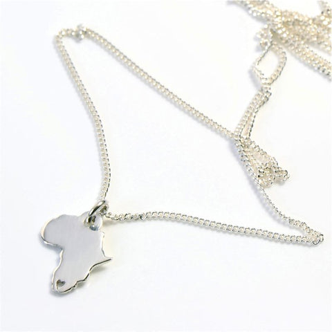 Sterling silver silver africa necklace nonna gifts sterling silver silver africa necklace aloadofball Image collections