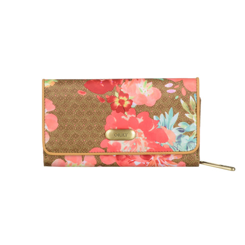 Oilily Wallet Large Gold Orange Navy