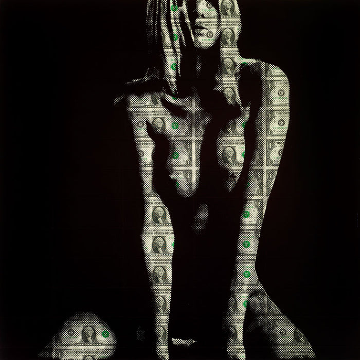 Ben Allen artist $42 US Dollar Nude screen print - UK Pop artist