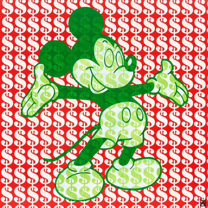 Mickey Mouse Dollar sign Art American Dream Ben Allen - UK Pop artist