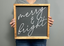 Load image into Gallery viewer, Merry And Bright [Cursive]