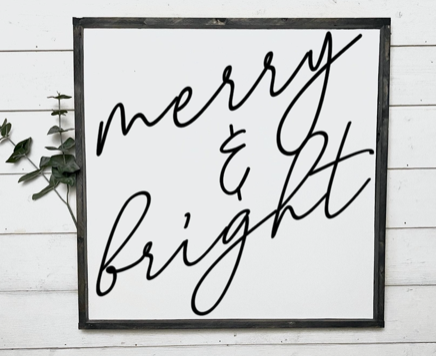 Merry And Bright [Cursive]