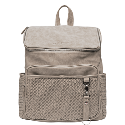 Little Company Lisbon Braided Diaper Backpack Taupe