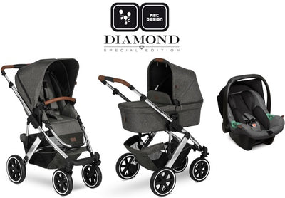 ABC Design Trio Salsa 4 Air 2021 Diamond Edition asphalt mit Babyschale Tulip