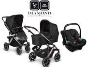 ABC Design Trio Salsa 4 Air Dolphin Diamond Edition 2021 mit Babyschale Tulip