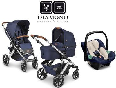 ABC Design Trio Salsa 4 Air 2021 Diamond Edition Navy mit Babyschale Tulip