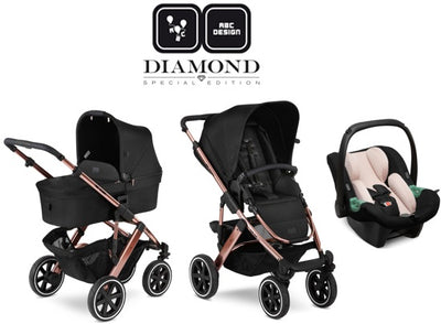 ABC Design Trio Salsa 4 Air 2021 Diamond Edition rose gold mit Babyschale Tulip