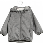 Wheat Softshelljacke Carlo melange grey