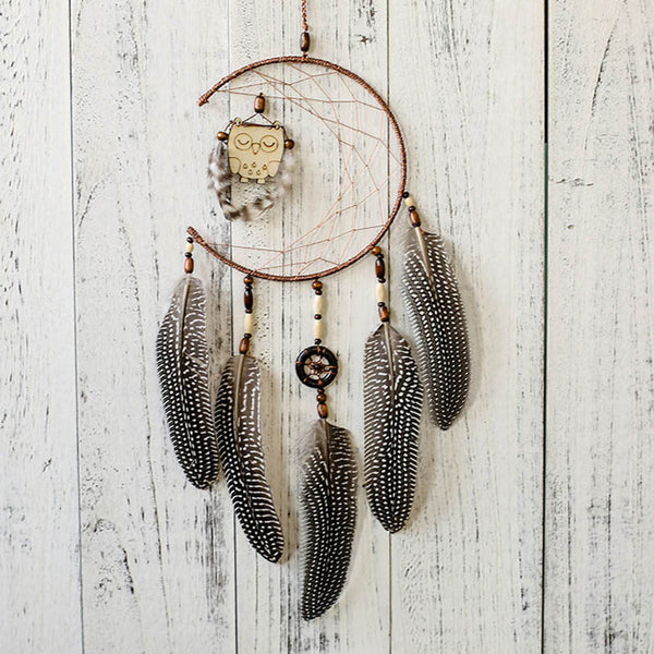 Dream catcher - brown feathers