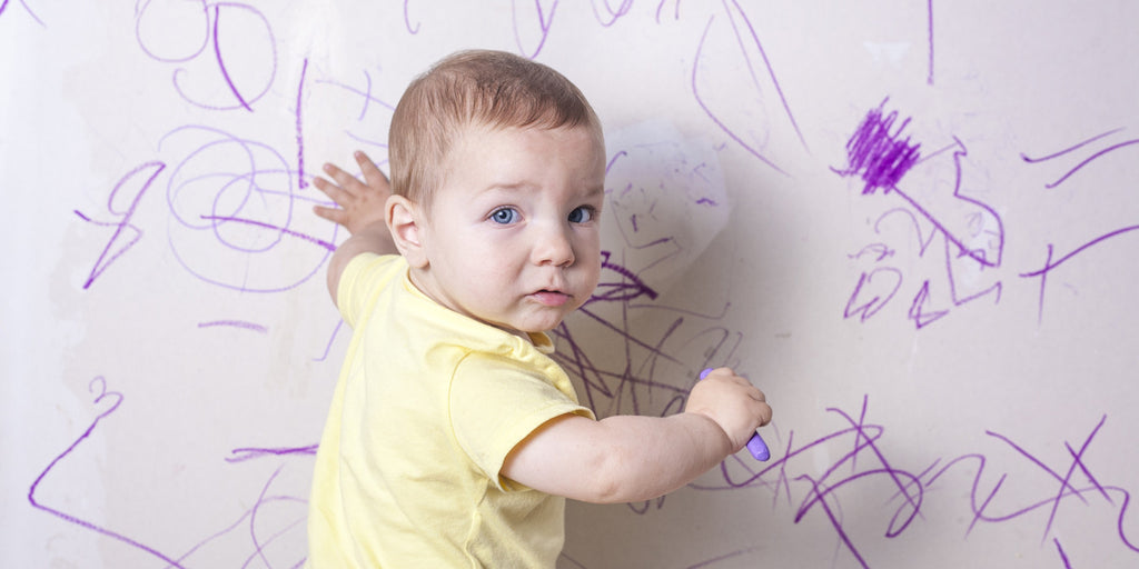 How to remove crayon and marker pen from walls