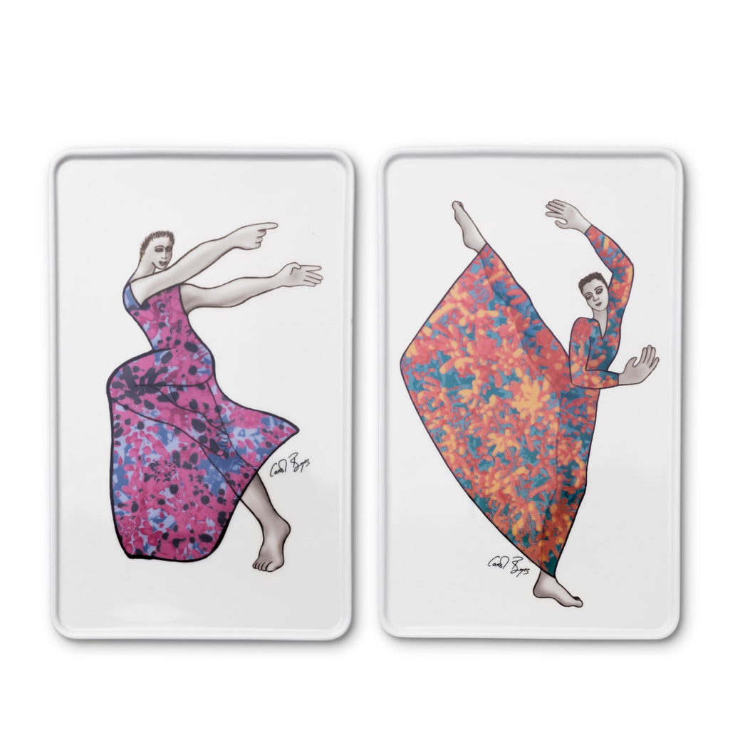 PLATTER RECTANGULAR SET of 2 - dancer