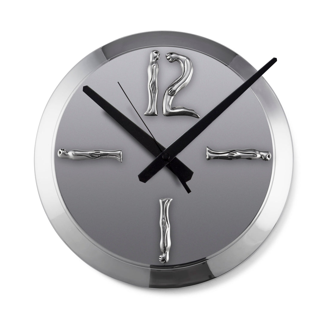 CLOCK SILVER LARGE - man/woman