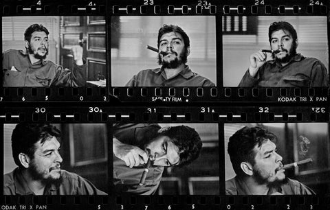 René Burri - René Burri's contact sheet of his exclusive interview with Che Guevara. La Havana, Cuba 1963
