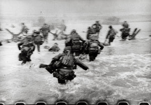 Robert Capa - American Troops landing on Omaha Beach, D-Day, Normandy, France, June 6, 1944