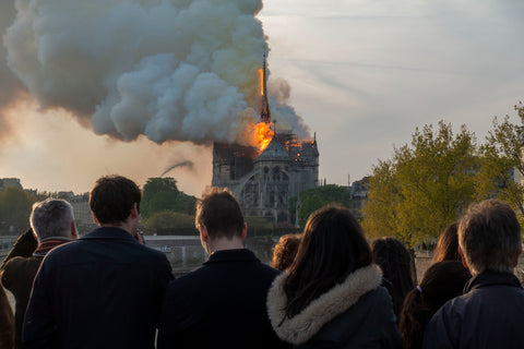 Patrick Zachmann - A fire engulfed parts of Notre Dame, the 13th century cathedral. Paris, France, April 15, 2019
