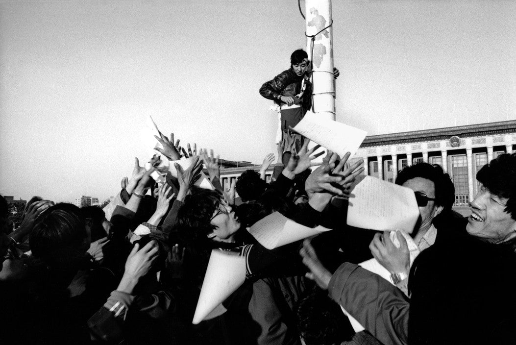 Patrick Zachmann - Tiananmen Square. Second day of the students' hunger strike. Beijing, China, May 14, 1989