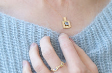 Load image into Gallery viewer, Gold Square Pendant
